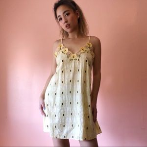 & Other Stories Yellow Gingham Dress